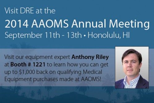 Visit Anthony at AAOMS to learn how to get exclusive DRE Bucks with qualifying purchases.