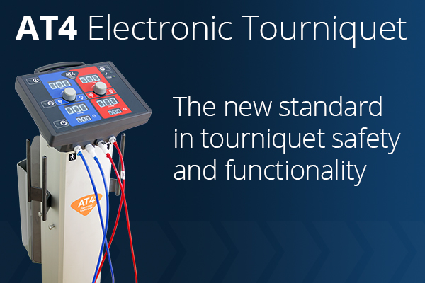 AT4 Electronic Tourniquet — The new standard in tourniquet safety and functionality.
