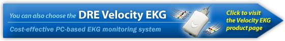 DRE Velocity EKG PC-based ECG monitoring system