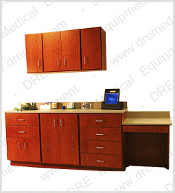 DRE Pro Series Cabinet - 6 Drawers, 4 Door Cabinet, 4 Door Wall Cabinet and Desk