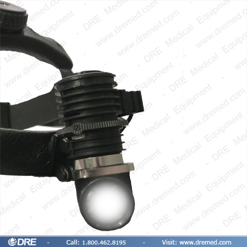 DRE Xavier C3 Headlight with Light On