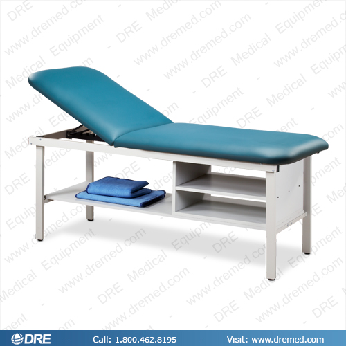 Clinton Eco-Friendly Steel Treatment Table with Shelving - 83030