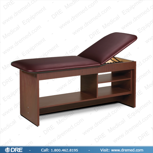 Clinton ETA Style Line Series Treatment Table with Shelving - 9004