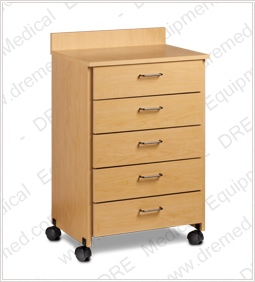 Clinton Mobile Treatment Cabinet with 5 Drawers - 8950