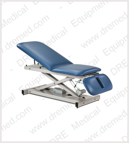 Clinton Open Base Power Table with Adjustable Backrest & Drop Section - 80330