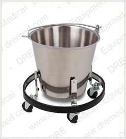 Clinton Stainless Steel Kick Bucket and Frame - SS-160