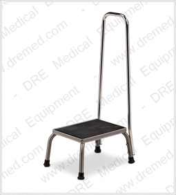 Clinton Stainless Steel Step Stool with Hand Rail - SS-150