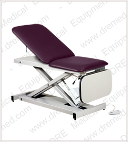 Clinton Open Base Power Casting Table with Laminate Leg Rest - 80350