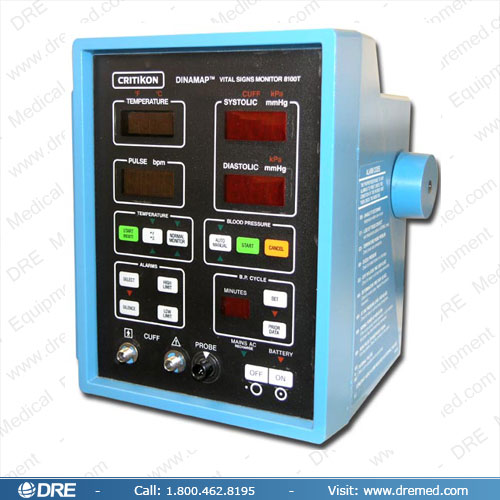 Refurbished Critikon Dinamap 8100 / 8100T NIBP Monitor on