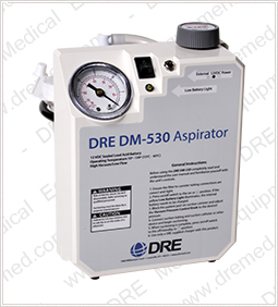DRE DM-530 Portable Aspirator with Battery Backup rt