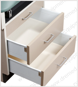 DRE Patient Exam Table drawers