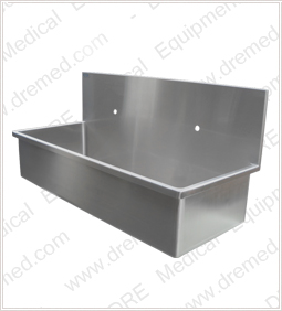 DRE Surgical Stainless Steel Scrub Sink left