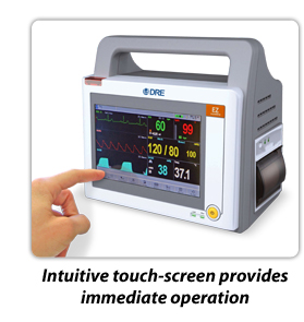DRE Waveline EZ Touch-screen Patient Monitor