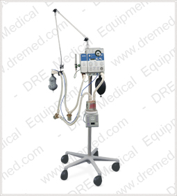 Newport E100m Respiratory Ventilator on Stand