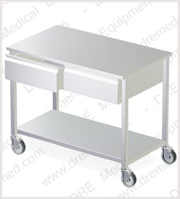 DRE Stainless Steel Mobile Tables With Drawers