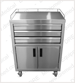 Stainless Steel Anesthesia Cart