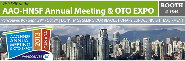 Top 10 Reasons to Visit DRE Medical at the AAO-HNSF Annual