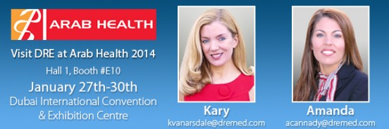 Visit Kary and Amanda at Arab Health 2014!