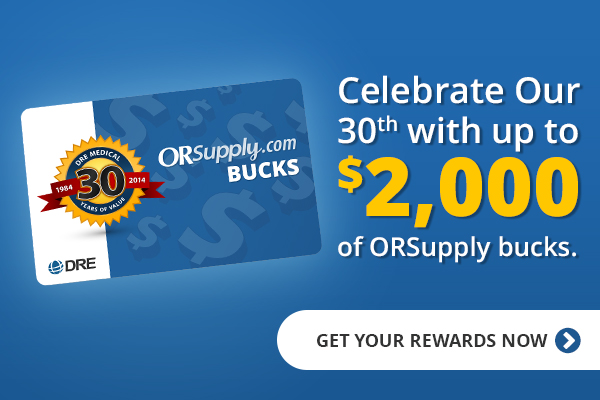 Celebrate our 30th anniversary with up to $2,000 of ORSupply Bucks!