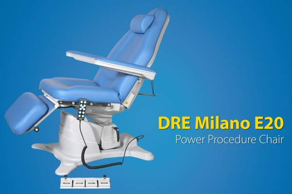 The DRE Milano E20 is the perfect choice for facilities wanting comfort, ease of use for physician and patient, and a sleek system with a small footprint.