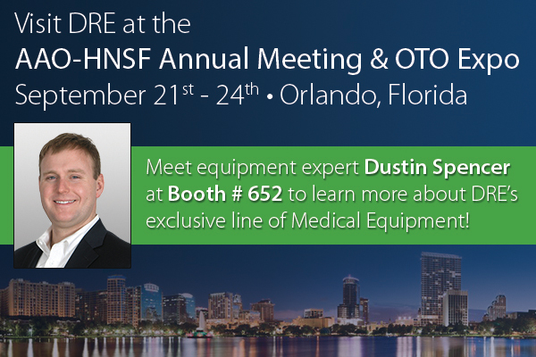 Visit Dustin in booth #652 and learn about the wide selection of DRE Equipment specifically designed for use in the ENT specialty.
