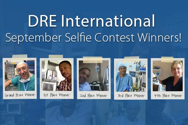 DRE International September Selfie Contest Winners!