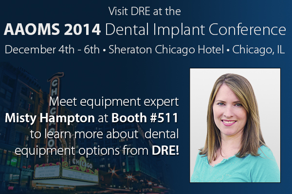 Meet equipment expert Misty Hampton at booth #511 to learn more about dental equipment options from DRE!