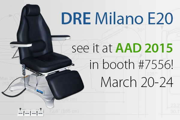 See the DRE Milano E20 at AAD 2015 in booth #7556! March 20-24