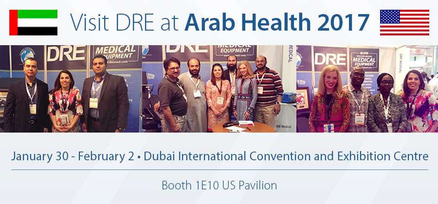 Visit DRE at Arab Health 2017!